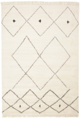 Marokkansk tæppe, 196X129 cm.