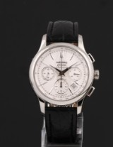 Wempe 'Zeitmeister Chronometer'. Men's chronograph, steel with date