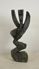Max Müller - stor bronzeskulptur, 'Abstrakt'