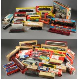 Märklin, Fleischmann, Röwa, Liliput, Trix mm. Stor samling model lokomotiver og vogne i original emballage