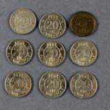 Samling spillemønter