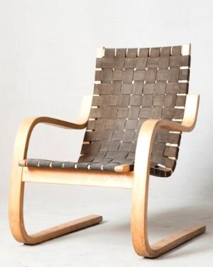 m bel alvar aalto freischwingender schichtholz sessel modell 406 f r artek de. Black Bedroom Furniture Sets. Home Design Ideas