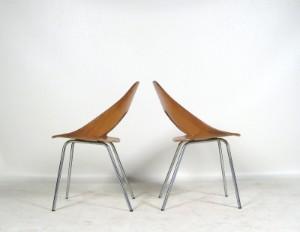Lauritz.  Möbel   Schichtholz Stühle der 1950/60er Jahre von
