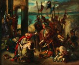 Ubekendt maler. 'Barnemordet i Betlehem'. 1800-tallet