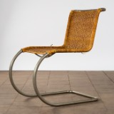 Ludwig Mies van der Rohe, cantilever / chair, model 'MR 10', rattan, Germany, designed in 1927