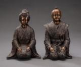 Par japanske skulpturer udført i bronce (2)