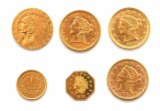 Diverse amerikanske dollar guldmønter (6)