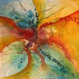 Bozena Ossowski, olie på lærred, 'Rainbow Love'