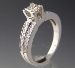 Diamant ring ca. 0.91 ct.