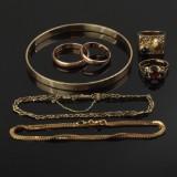 Samling 14 kt. guld smykker