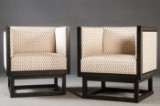 Josef Hoffmann, two chairs/armchairs model 'Cabinett' for Wittmann (2)