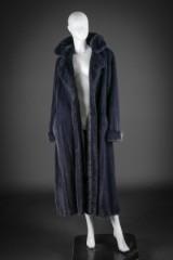 Mink coat, denim-blue, size 40-42