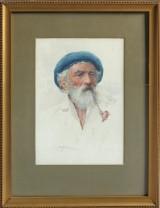 Augusto Moriani, Portrait. Aquarell