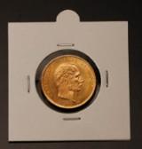 Dansk Guldmønt, 20.krone guld 1890, CS