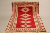 Håndknyttet tæppe, 112x206 cm.