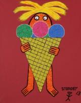 Kenneth Strandby. 'Ismanden ', akryl på lærred