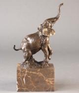 Bronzefigur forestillende elefant