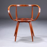 George Nelson, Pretzel Chair, Anniversary Edition, Anniversary Model, Limited Edition in rosewood veneer.