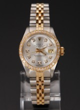 Nye og brugte herreure - Rolex, Cartier, Omega, Breitling - Rolex Oyster Perpetual Datejust 18k ...