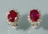 Par rubin og diamantørestikker (2)