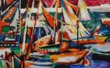 Acrylgemälde, unbekannter Künstler, ohne Titel