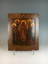Russian icon, tempera on wood, Archangel Michael