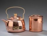Kaffekande og kaffedåse af kobber 'Polaris Copper'   (2).
