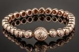 Shamballa Jewels tennis diamond bracelet, 18 kt. rose gold