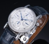 Chronoswiss 'Chronograph'. Men's watch, steel, with two-tone dial, 2000s