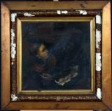 Ubekendt kunstner. Portræt med kvinde og mørk herre