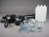 Automatisk svingportåbner til dobbeltlåget smedejernsport