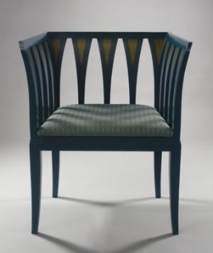 Eliel saarinen blue chair cranbrook 1929 this auction for Eliel saarinen furniture
