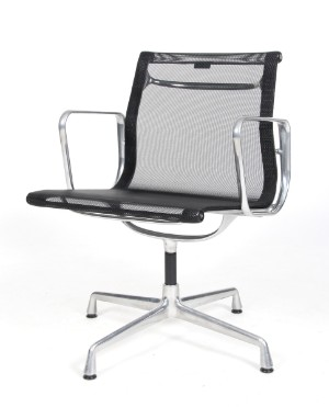 charles eames armchair black mesh model ea 108 lauritz com