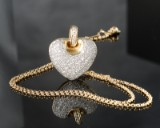 Heart necklace featuring brilliant-cut diamonds approx. 1.96 ct.