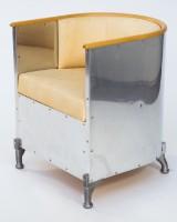 Chair, 'Theselius', designed Mats Theselius for Källemo, natural aluminium
