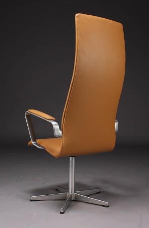 ware 3370521 arne jacobsen oxford b rostuhl mit hoher r ckenlehne modell 3292 helles leder. Black Bedroom Furniture Sets. Home Design Ideas