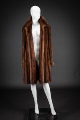 Mink swing coat, glow, size 42