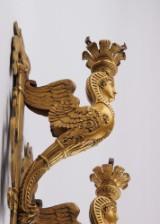 Et par franske Napoleon III væglampetter af forgyldt bronze. 1800-tallets slutning. (2)