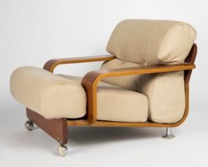 lounge sessel holz leder, sessel / lounge chair, 1970er jahre, holz und leder diese ware steht, Design ideen