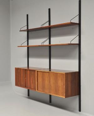 m bel poul cadovius wandregalsystem aus palisander 2 22 dk kolding trianglen. Black Bedroom Furniture Sets. Home Design Ideas