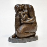 Ubekendt kunstner. Skulptur af patineret bronze