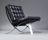 Ludwig Mies van der Rohe. 'Barcelona' lounge chair, with accompanying numbered certificate
