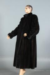 Dark-brown mink coat, swing model, size approx. 48-52
