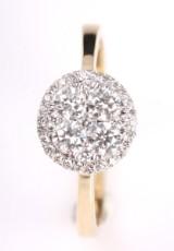 Rosetring med diamanter, 14 kt guld, 0.60 ct