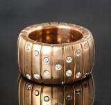 Brilliant-cut diamond ring, gold, approx. 0.35 ct.