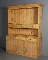 Danish furniture producer. Sideboard with top section / dresser. Solid pine (2)