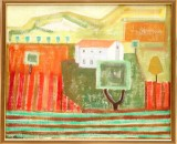 Oidentiferad konstnär, olja på duk, sign