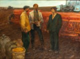 Aleksandr Grigorevich Nazarenko, On the field of the collective farm