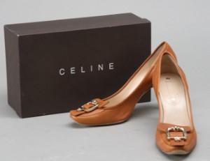 0689674b3cd Slutpris för Celine. Camelfarvet skind sko str.