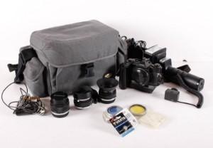 Spejlrefleks analogt kamera Olympus med linser og taske - Dk, Aalborg, Nibevej  - Olympus. analoge spejlreflekskamera og tilbehør samt taske, - Dk, Aalborg, Nibevej